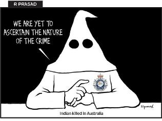 Indian Media depict Australian police as racists
