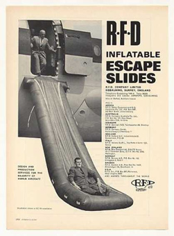 Inflatable escape slide